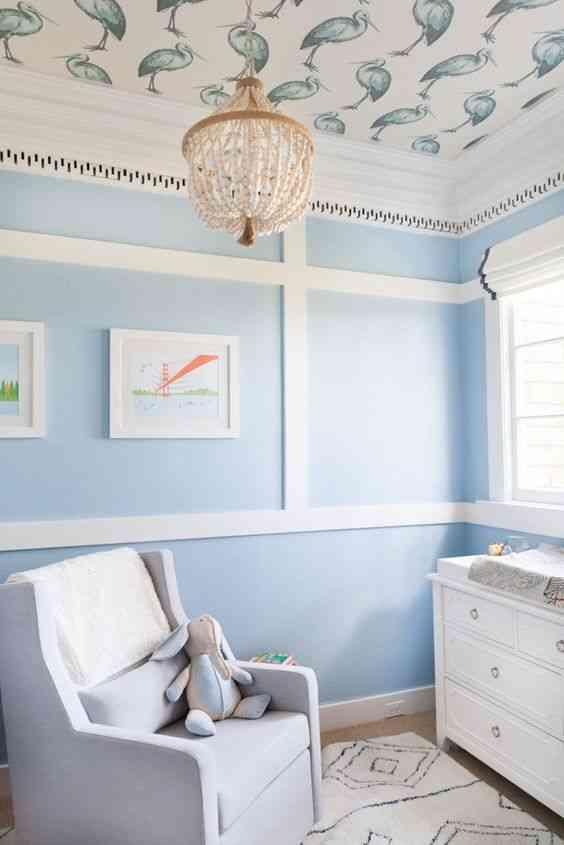درجات اللون الأزرق لغرف الأطفال
