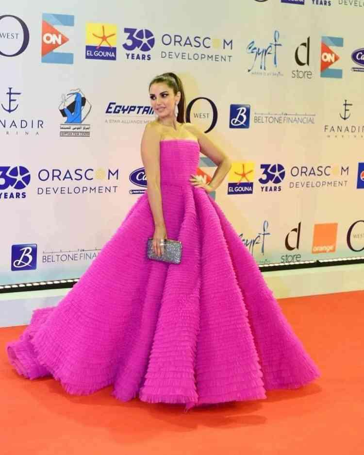فساتين مهرجان الجونة السينمائي 2019 درة زروق