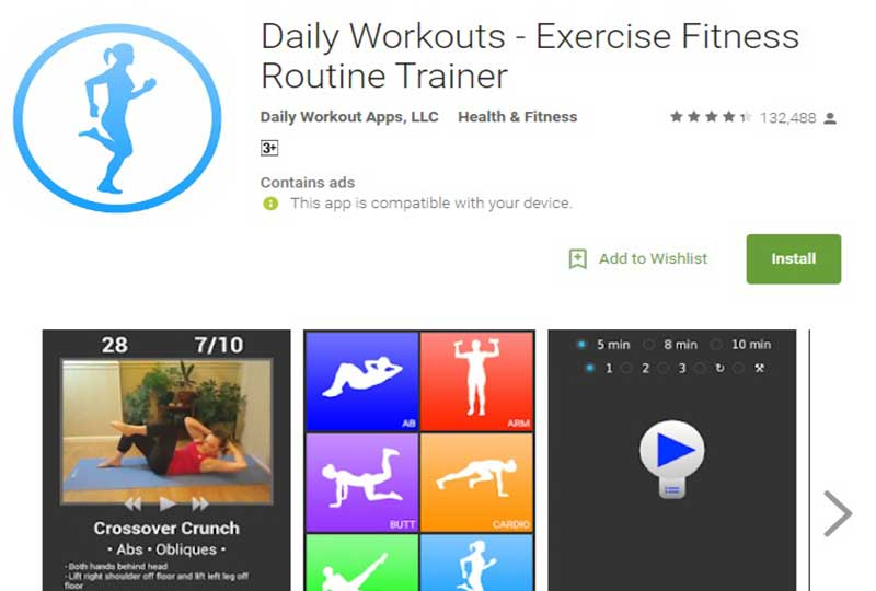 Daily Workouts - Exercise Fitness Routine Trainer