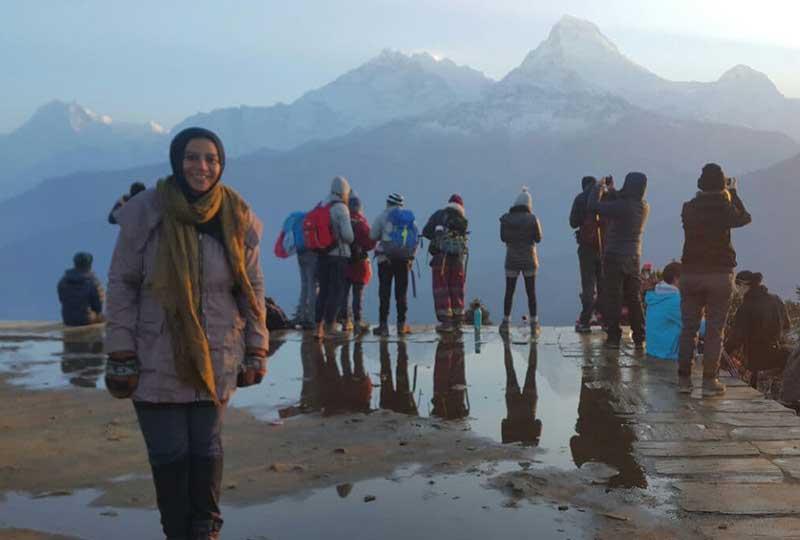 رحلة هدير ماهر في جبال الهيمالايا