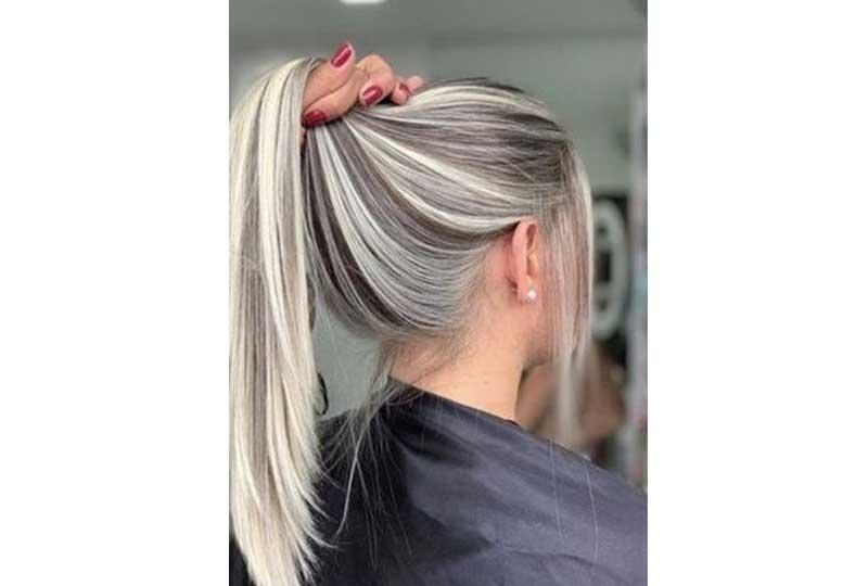 ألوان صبغات الشعر اللون الفضي