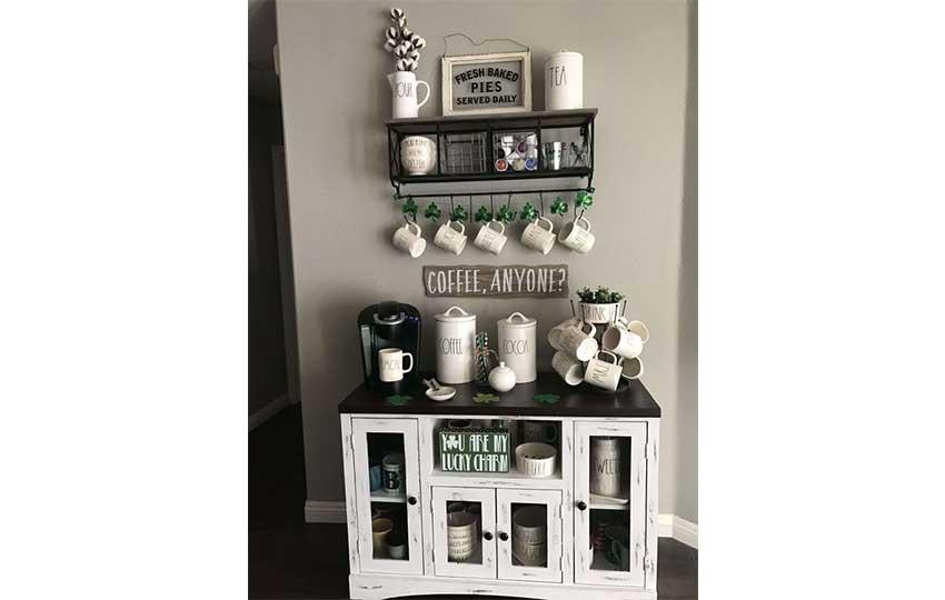 تصميم ركن القهوة في المنزل