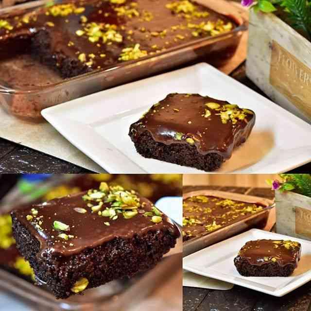 طريقة تحضير البسبوسة بالشوكولاتة