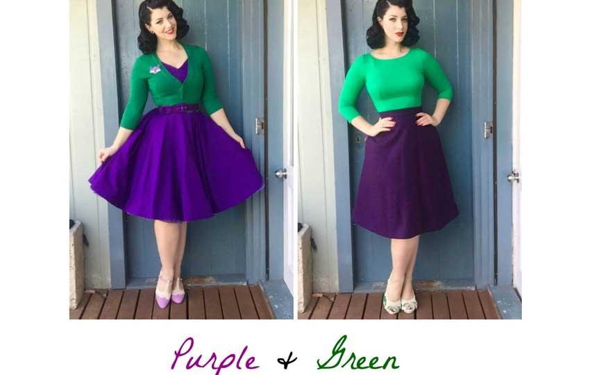 تنسيق ألوان الملابس - تنسيق لونين