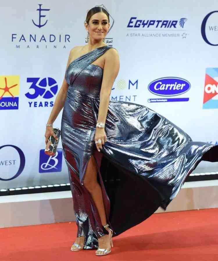 فستان أمينة خليل من مهرجان الجونة 2019