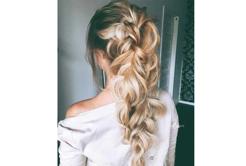 تسريحات شعر للشعر الخفيف ضفيرة كبيرة وحلزونية