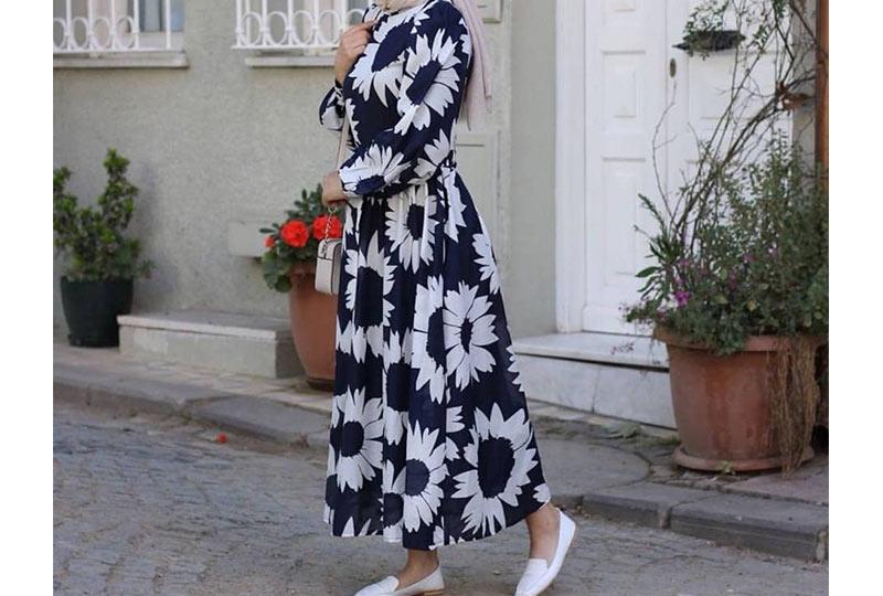 فستان خروج شيفون محجبات