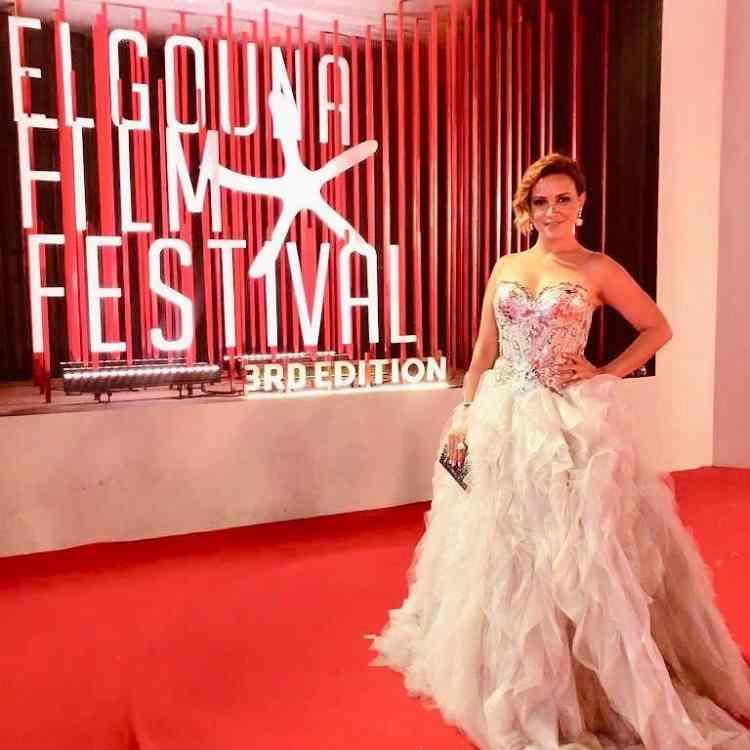 فستان ريهام عبدالغفور من مهرجان الجونة 2019