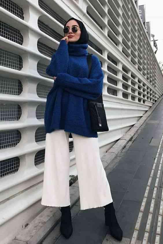 إطلالة شتوية للحجاب