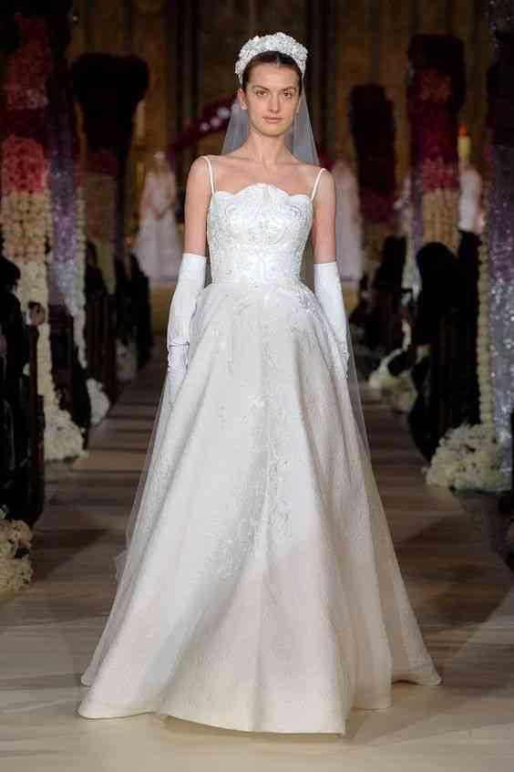 فساتين زفاف 2020 مع قفازات طويلة