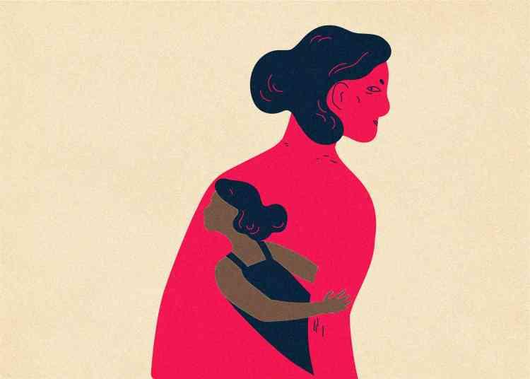 التأثر بجرح الأم