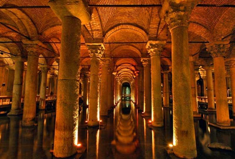أماكن سياحية في تركيا صهريج بازيليكا