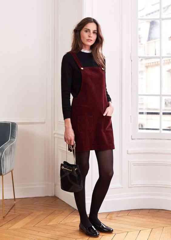 أنواع الفساتين فستان مريلة
