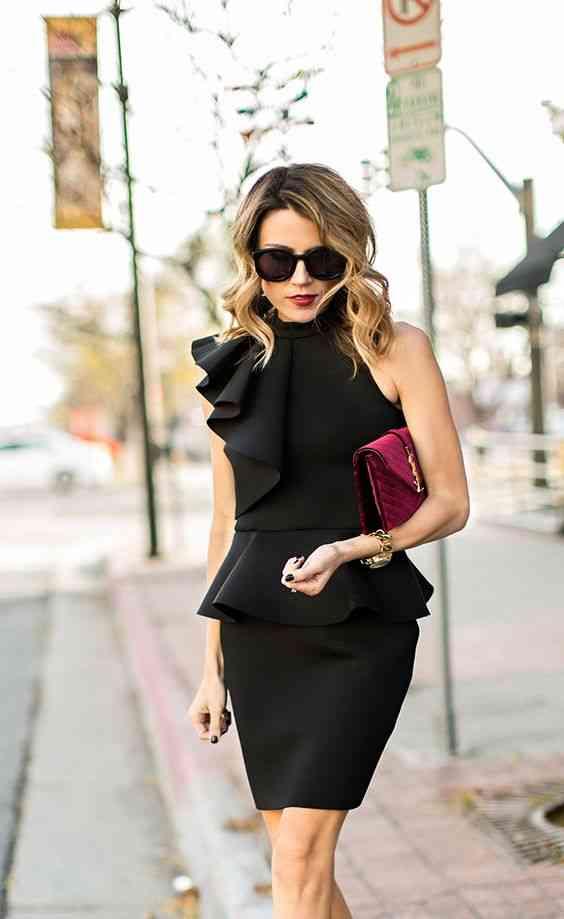 أنواع الفساتين Peplum Dress