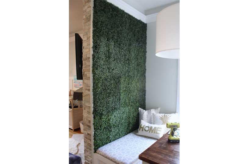 ديكورات حوائط بالنباتات لحائط واحد