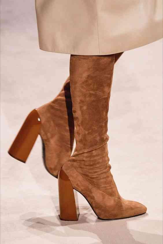 أحذية شتاء 2020 بوت طويل برقبة ضيقة