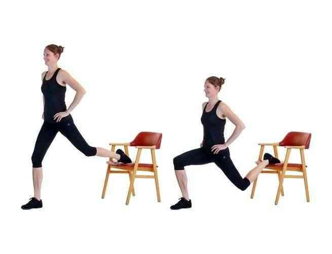تمارين الكرسي السكواد بساق واحدة