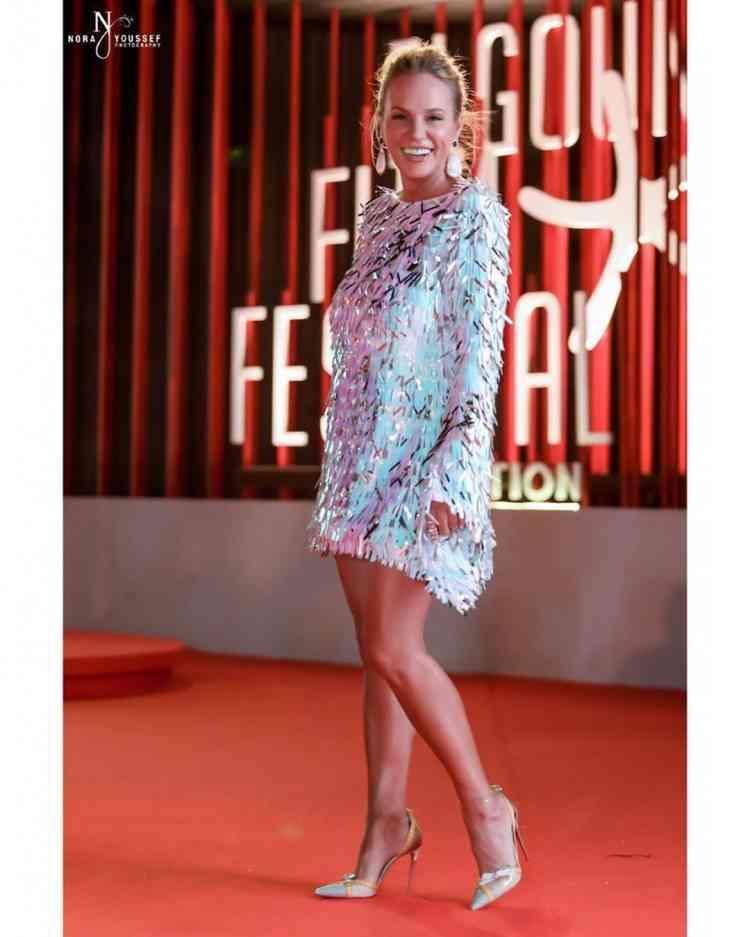 فستان شيرين رضا من ملك العزاوي في مهرجان الجونة 2019