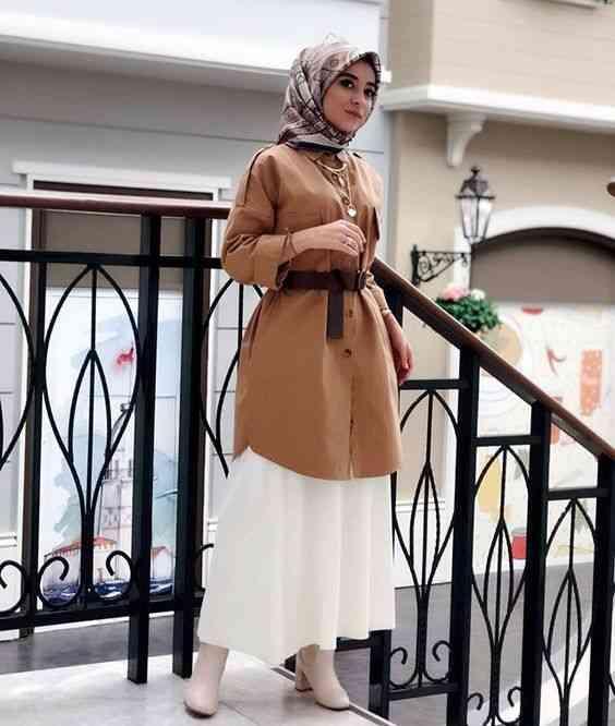 أزياء محجبات تركية بلوزة طويلة