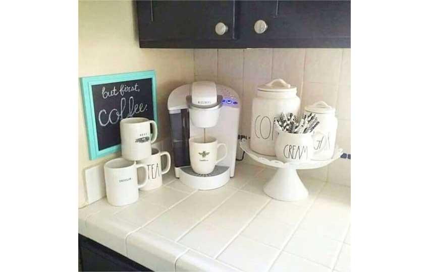 ركن قهوة بسيط
