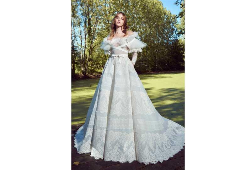 فساتين زفاف 2019 بأكمام كبيرة