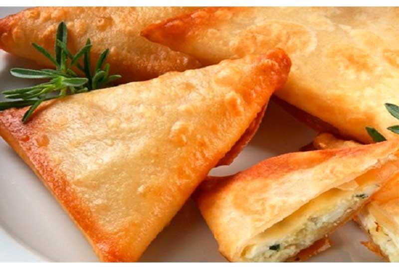 سمبوسك الجبن والنعناع