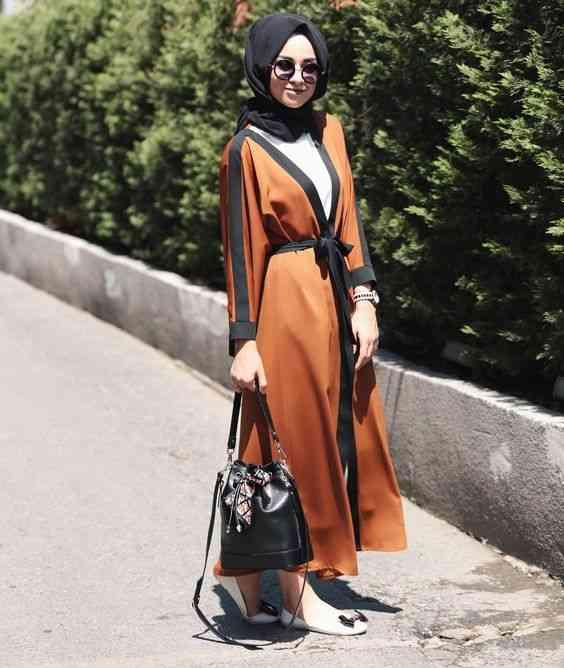 أزياء محجبات تركية عباية مفتوحة