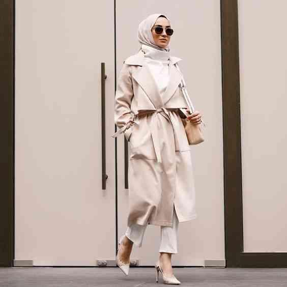 ملابس محجبات كاجوال بالكارديجان الطويل