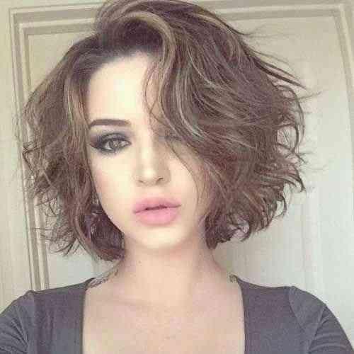 قصات شعر قصير مدرج 2