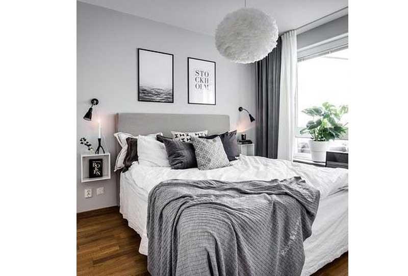 ألوان غرف نوم باللون الرصاصي