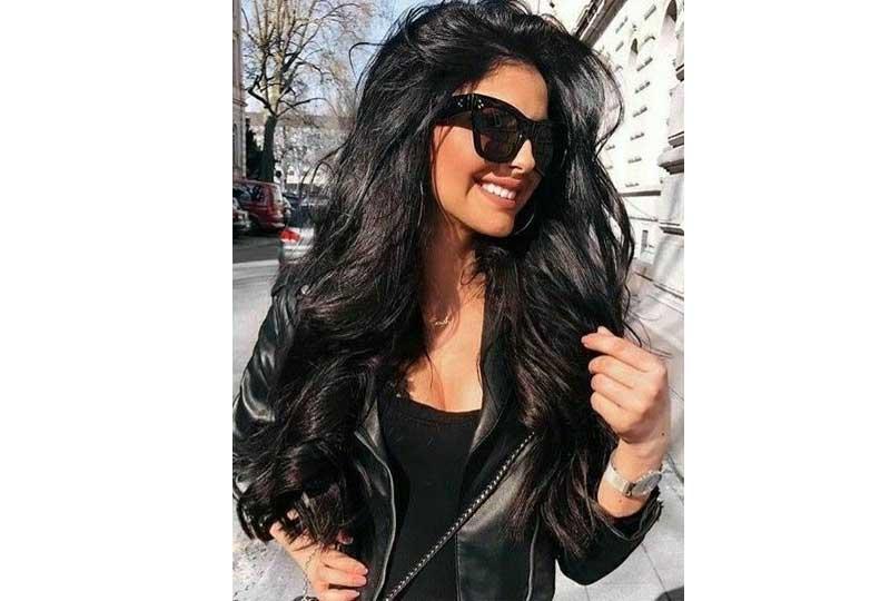 ألوان صبغات الشعر اللون الأسود الداكن للشعر الكثيف