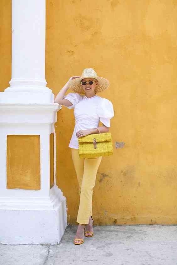 تنسيق اللون الأصفر مع الأبيض