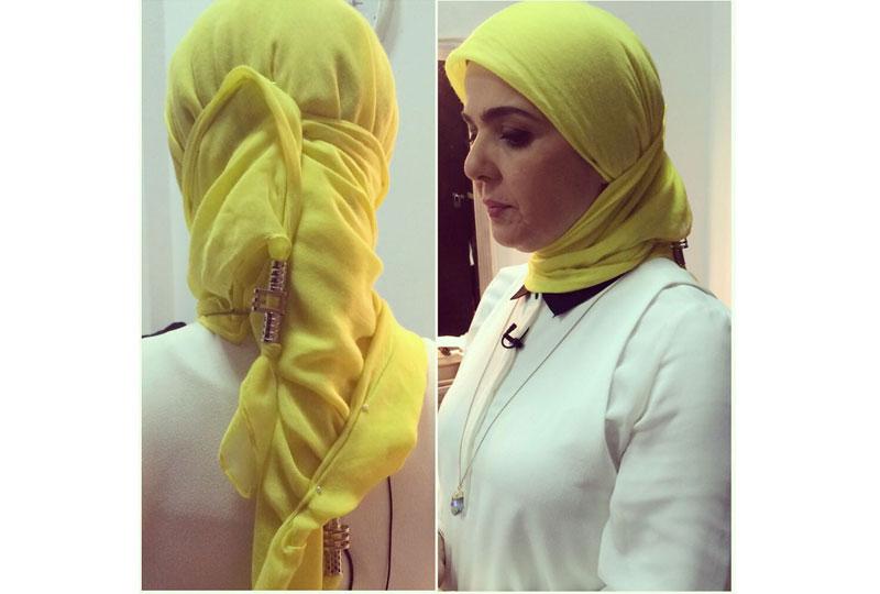 لفة طرحة سبانش من منى عبد الغني