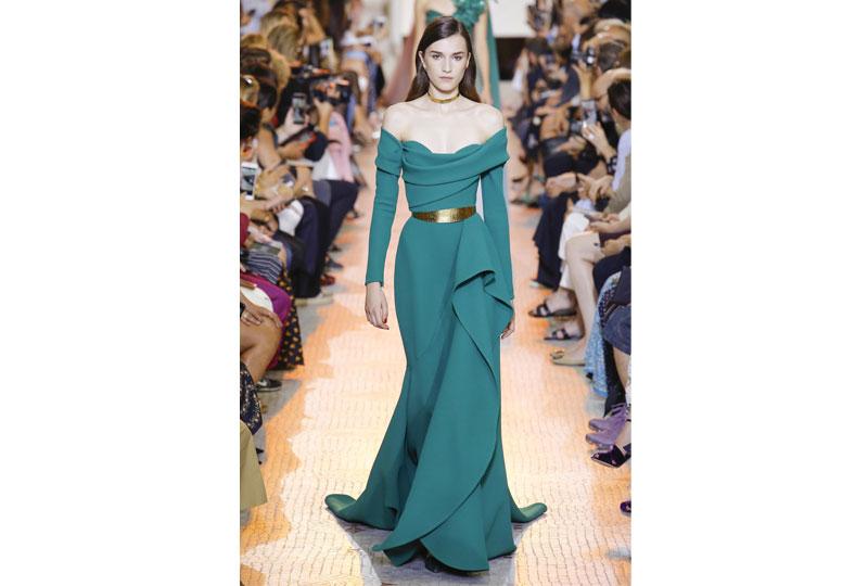 فساتين خطوبة بألوان صريحة من عرض أزياء إيلي صعب هوت كوتور 2019