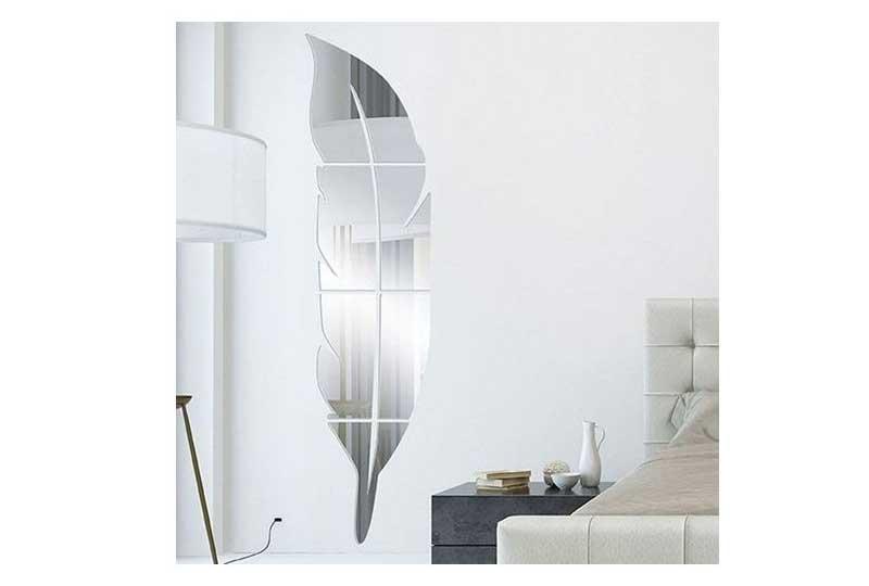 إكسسوارات المنزل مرآة على شكل ورقة شجر