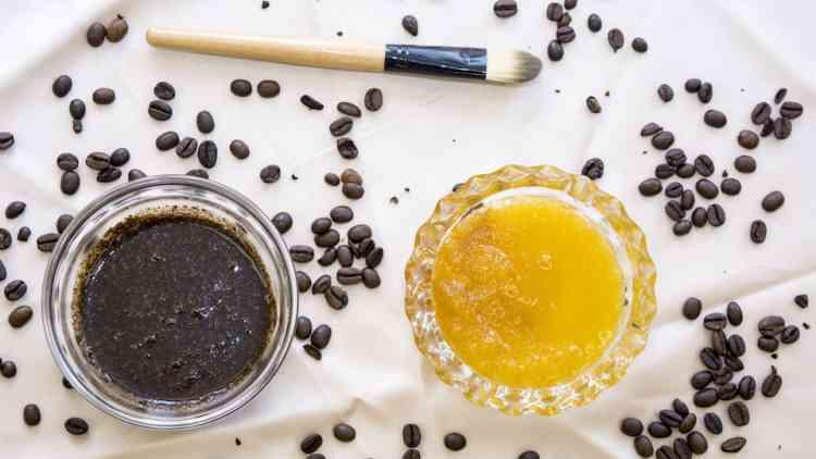 ماسك العسل والقهوة
