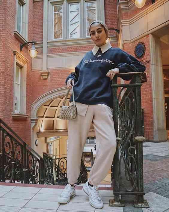ملابس محجبات كاجوال بسيطة وأنيقة للجامعة
