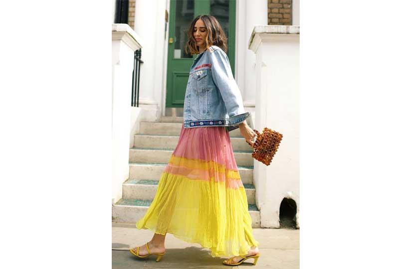 ملابس كاجوال للعيد فستان بألوان متعددة