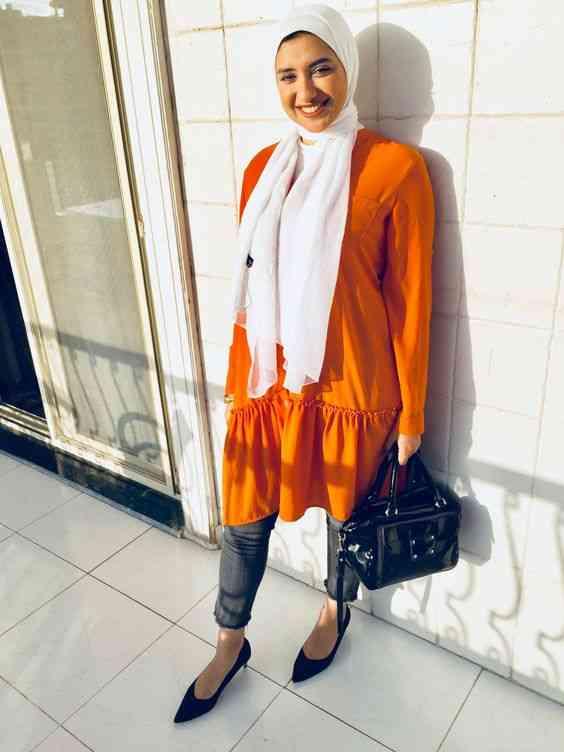 لوك كاجوال بسيط للحجاب