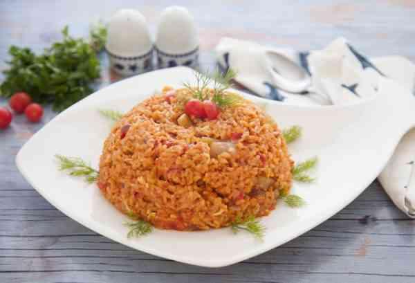 طريقة عمل أرز السمك بدون بصل