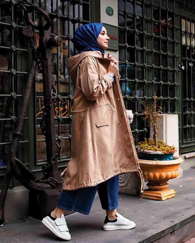 أزياء محجبات تركية بالطو طويل