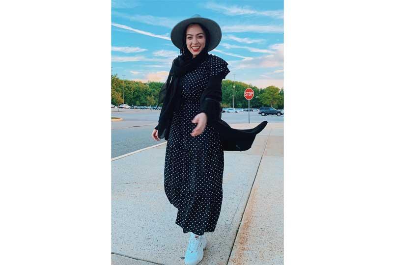 ملابس كاجوال للعيد صيحة البولكا دوتس للحجاب