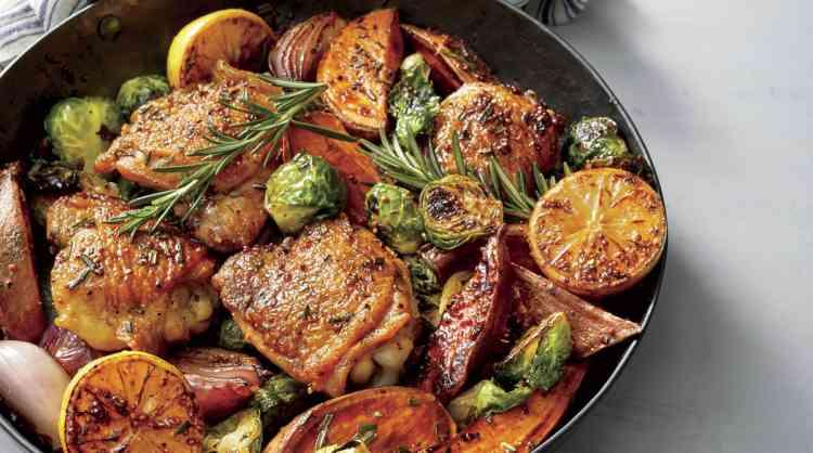 أكلات صحية دجاج بالخضار