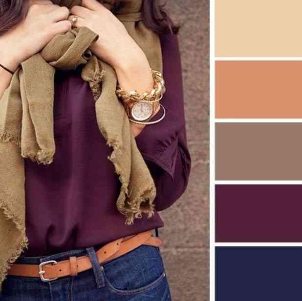 تناسق الألوان مع الملابس