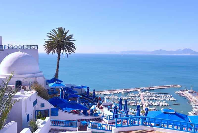 مدن عربية سياحية سيدي بوسعيد