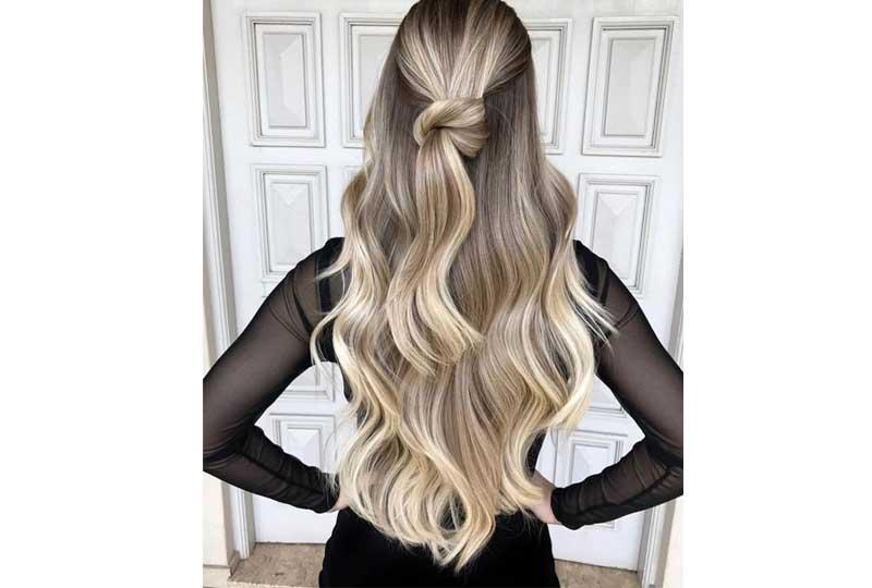 ألوان صبغات الشعر الأشقر الفاتح مع الجذور الداكنة