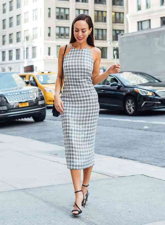 أنواع الفساتين Midi Dress