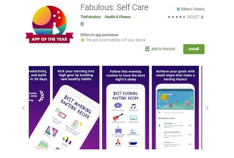 تطبيق Fabulous