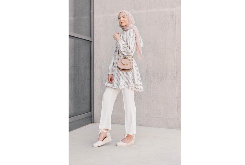 ملابس كاجوال للعيد ملابس للمحجبات