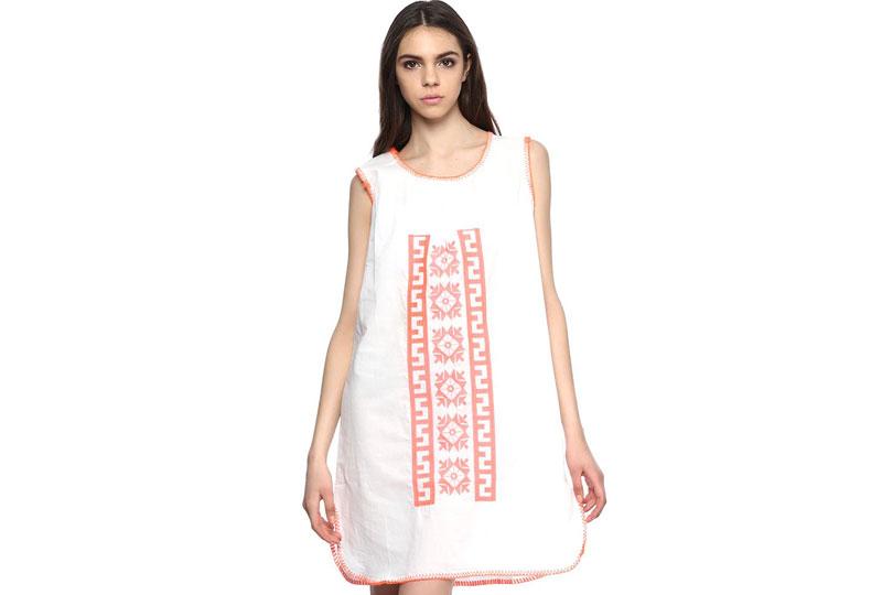 فستان للبحر أبيض قصير
